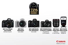 แคนนอน ยกขบวนสุดยอดผลิตภัณฑ์คว้ารางวัล TIPA Awards 2018