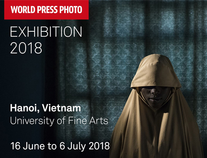130 masterpieces from the World Press Photo Contest sponsored by Canon will be held in Hanoi
