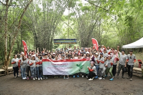 """Canon Volunteer 21"" activity promotes forest conservation"