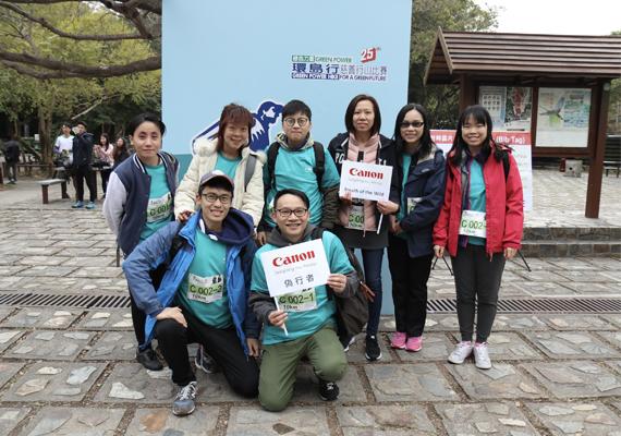 佳能香港連續11年支持「綠色力量環島行」