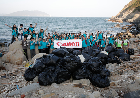 """Canon Volunteer Day 2018: Shorelines Clean up at Junk Bay ""advocate to reduce waste at source"