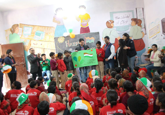 Canon India employees celebrate country's 70th Republic Day with children in their adopted villages
