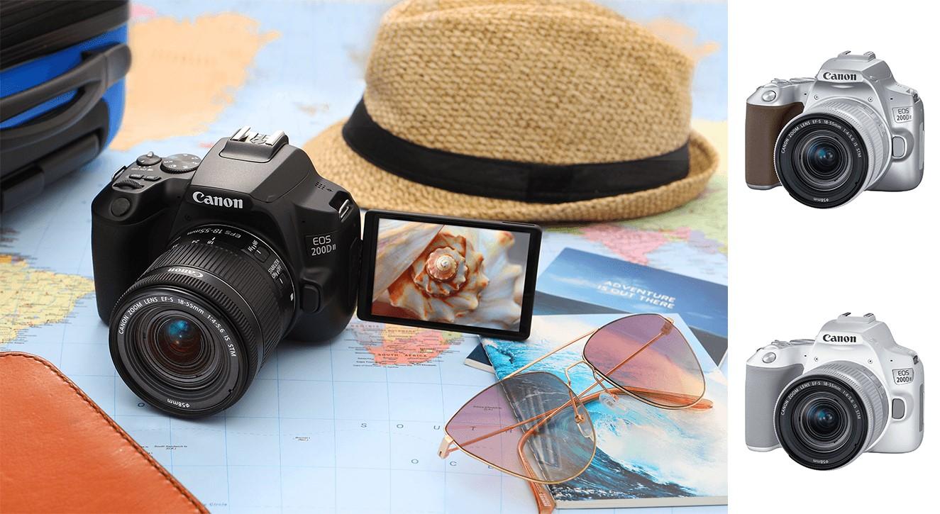 Chiếc máy ảnh EOS 200D II của Canon là dòng nâng cấp của phiên bản EOS 200D được trang bị thêm chức năng làm mịn da của ảnh chân dung, ...