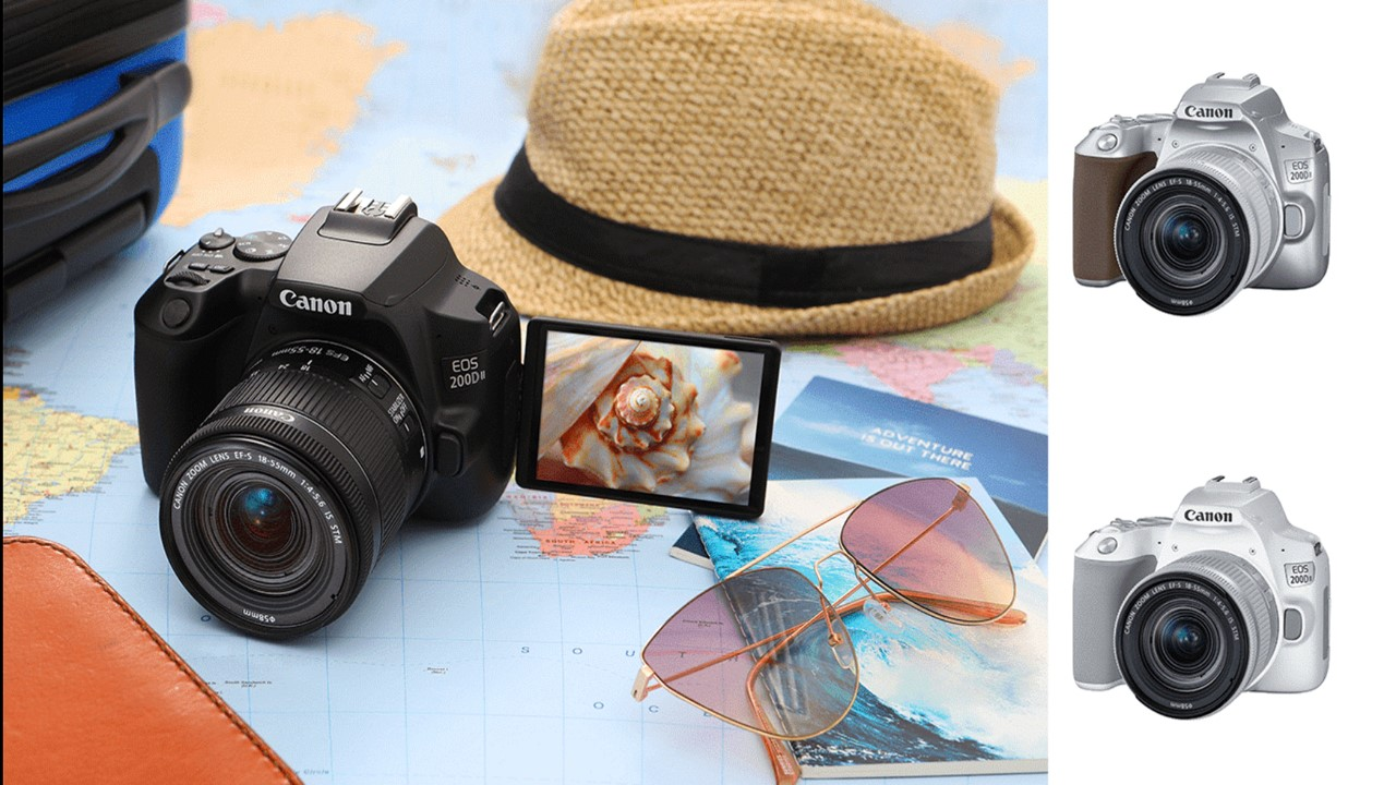 The Canon EOS 200 D II marries form with functionality adding a dimension to your everyday photography