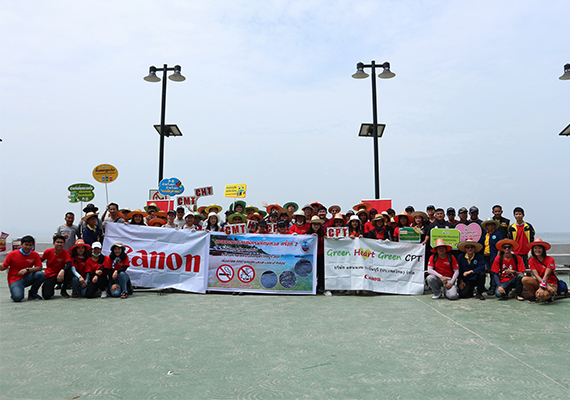 Canon held 2nd Canon Marine Ranger Project to save Bang Saen Beach.