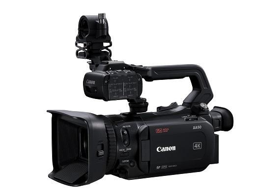 佳能全新XA55及XA50輕巧型專業級4K數碼攝錄機